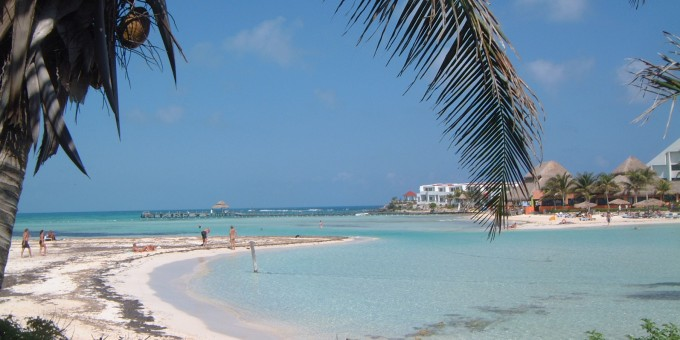 Playa Norte on Isla Mujeres, Mexico