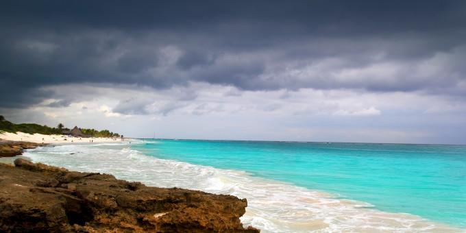Monsoon Rains over Mexico's Caribbean Sea