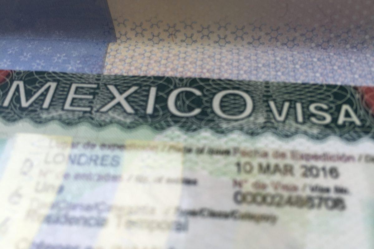 Mexican Visa in a Passport