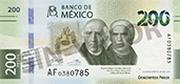 $200 Pesos August 2019