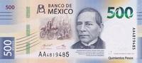 500 Pesos August 2018