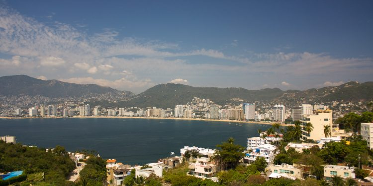 Acapulco Bay Viewed from the south end of the city