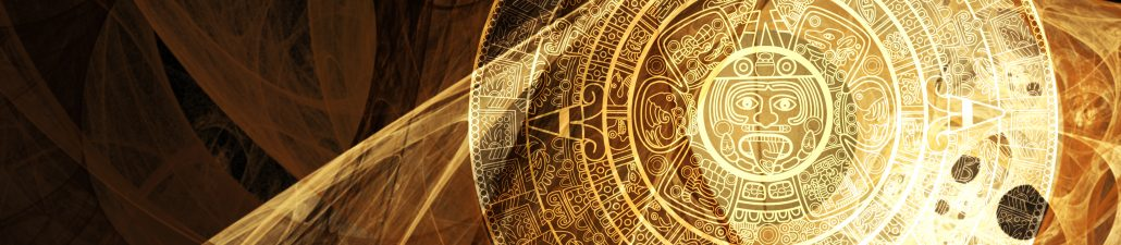 Aztec Calendar in Artistic Light