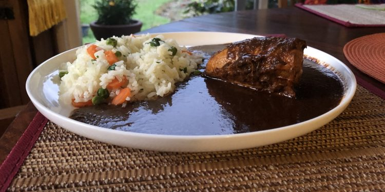 Chicken Mole and Rice