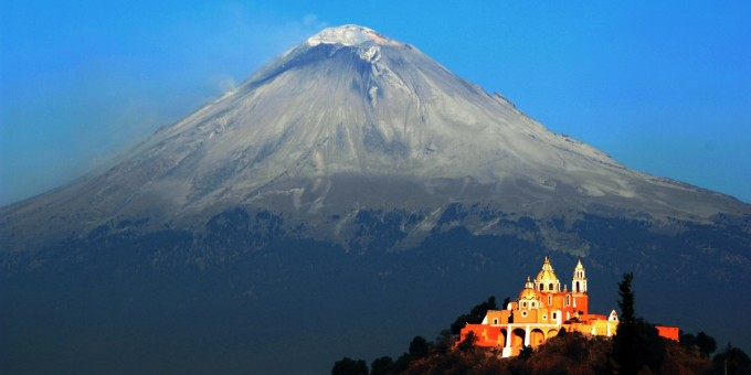 Cholula and Popocatepetl