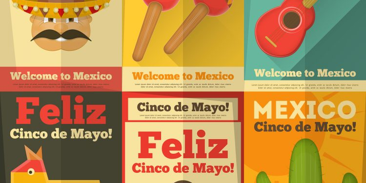 Posters for Cinco de Mayo Celebrations in Mexico