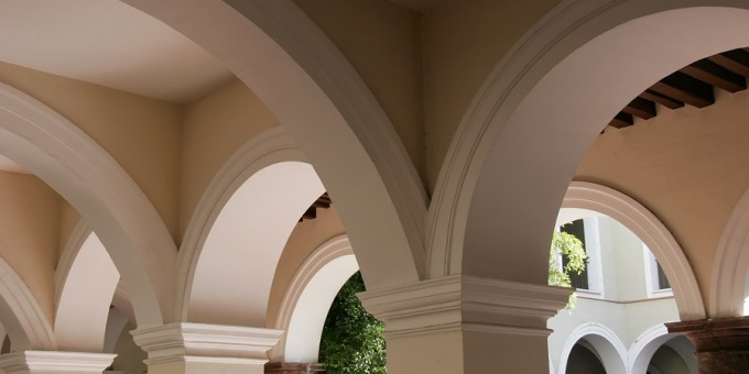 Colonial Arches inside Mexican Home
