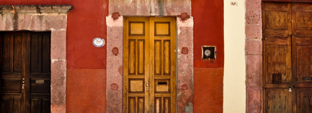 Colonial House Doors in Mexico
