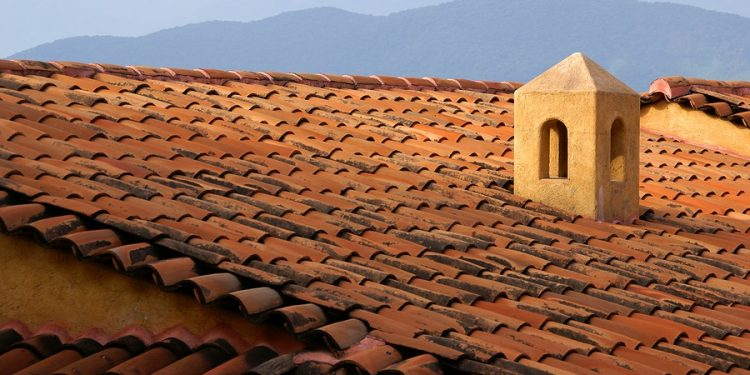 Colonial Rooftops in Mexico