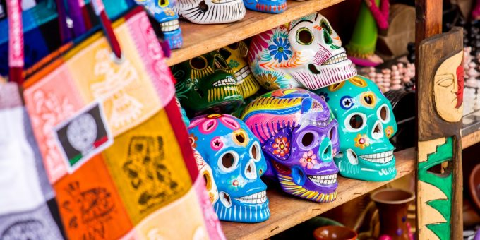 Colorful Skulls Day of the Dead Mexico