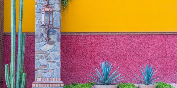 A colorful wall in Mexico