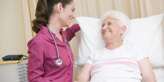 Doctor with elderly patient