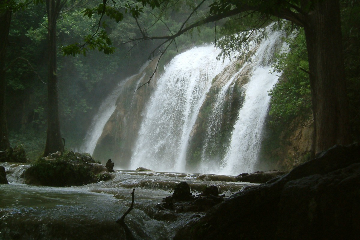 El Chiflon Waterfall in Chiapas, Mexico