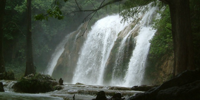 El Chiflon Waterfall in Chiapas, Mexico