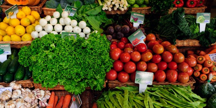 Fresh produce on sale at the market