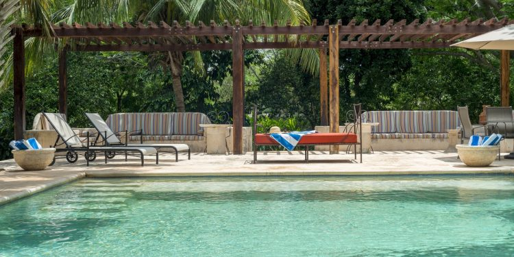 Swimming Pool at Hacienda Santa Cruz