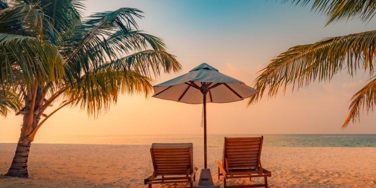 Relaxing Beach at Sunset