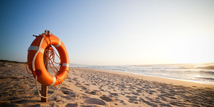 Lifesaver Ring on Beach