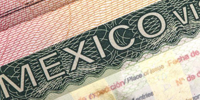 Mexican visa in passport
