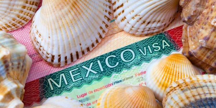 Mexican Visa inside a foreign passport