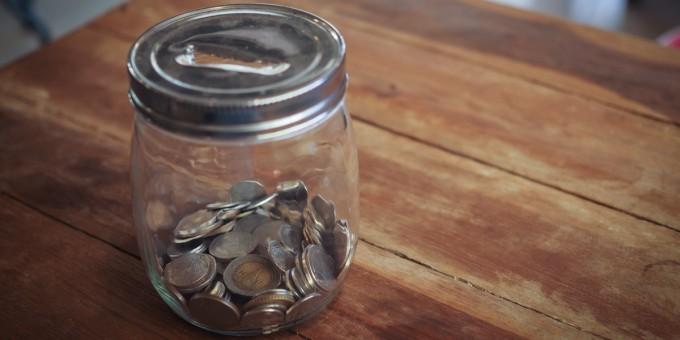 Money Jar on Table