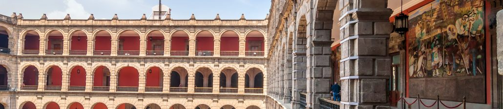 View of Inner Courtyard, National Palace, Mexico City