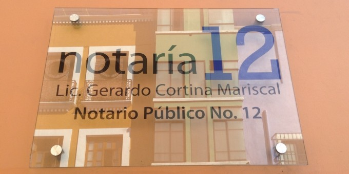 Notary Public Sign - Mexico