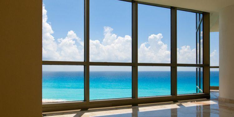 Ocean View through a window