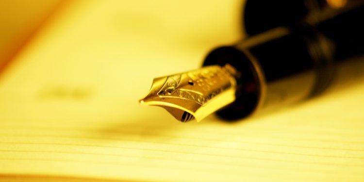 Pen in paper