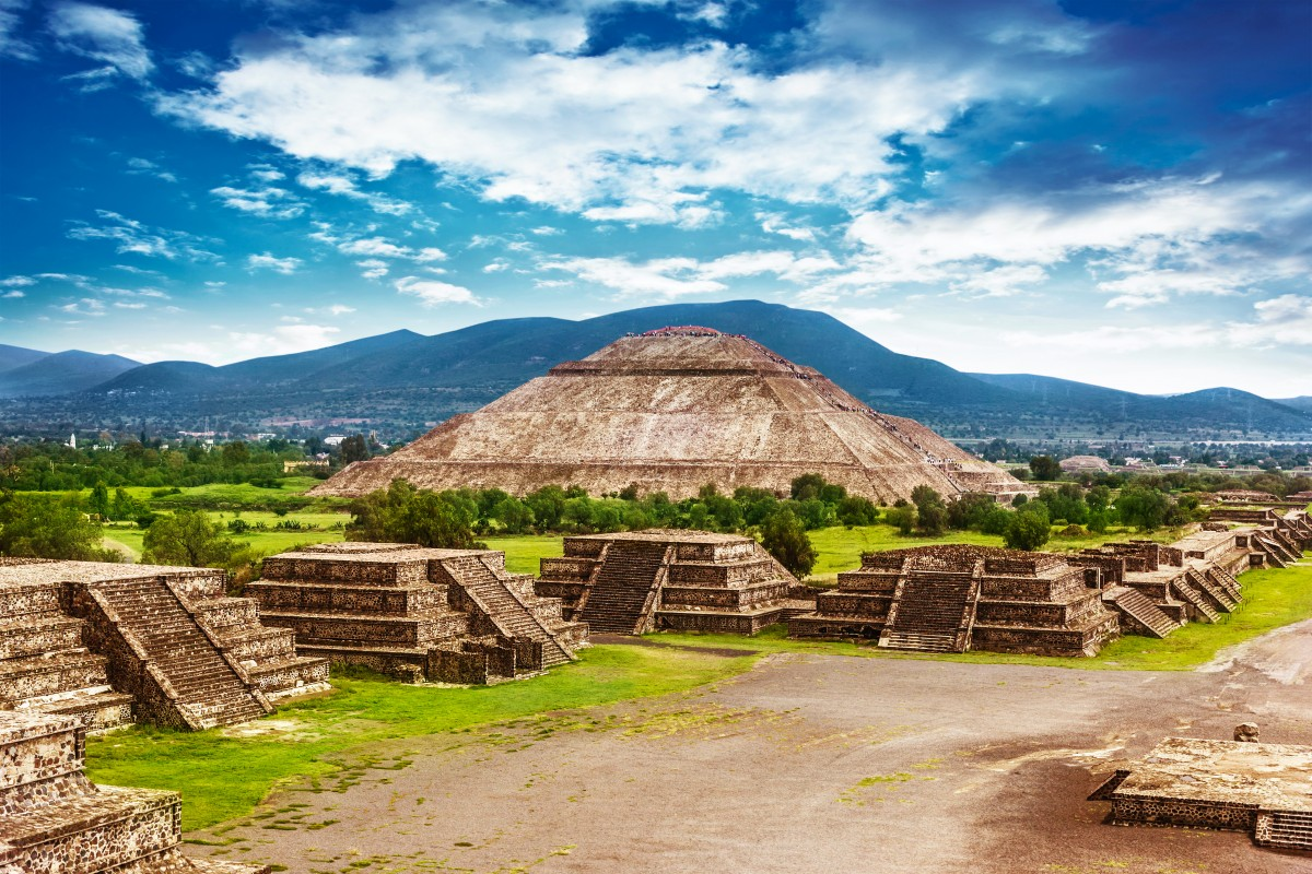 Pyramid of the Sun at Teotihuacan, Mexico