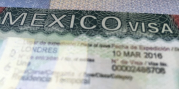 Mexican Visa in a Passport