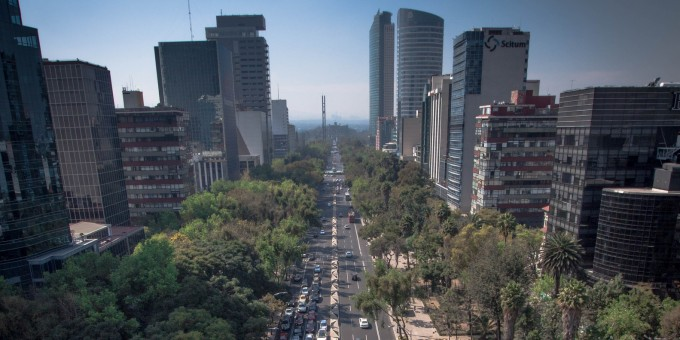 Paseo de la Reforma Viewed from Angel of Independence