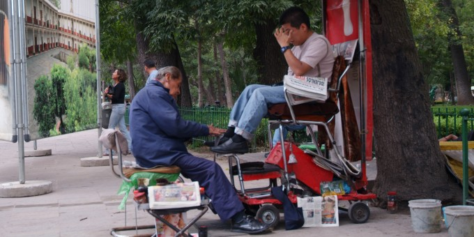 Shoe Shine in Mexico City