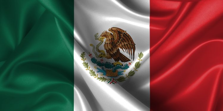 Silk Flag of Mexico