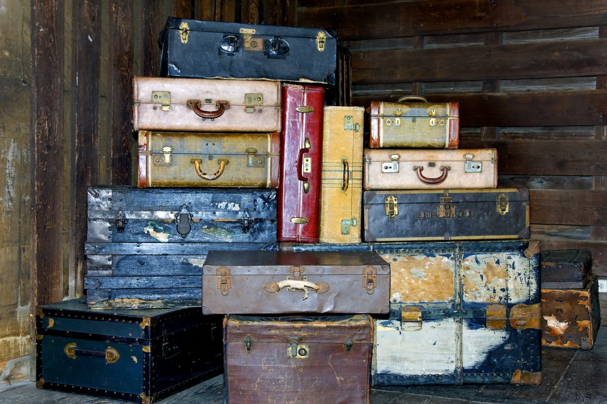 Suitacases - Baggage Stacked for Travel