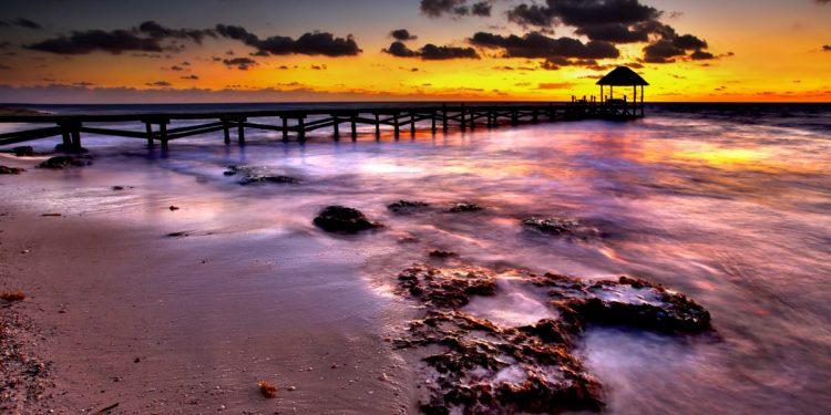 Sunrise on a peaceful pier
