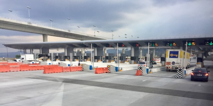 A Toll Road Booth in Mexico