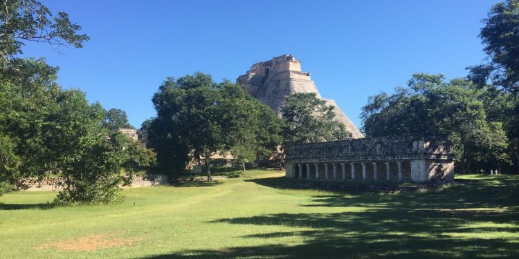 Uxmal - View of Magician's Pyramid