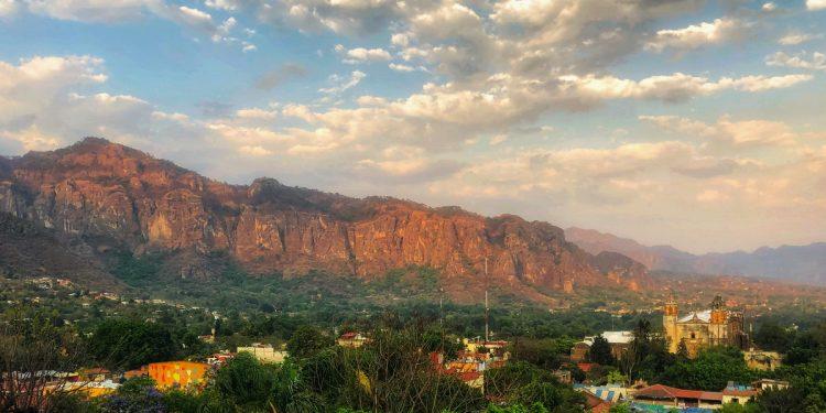 View of Tepoztlan from Posada del Tepozteco