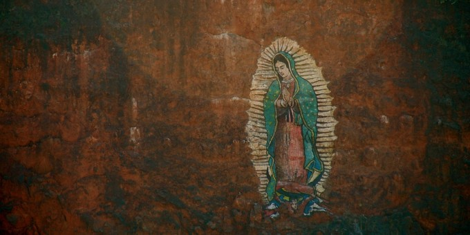 Image of Virgin Guadalupe on Wood